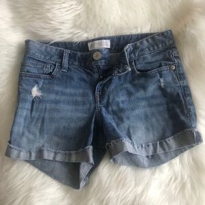 Express Shorts - Express distressed jean shorts